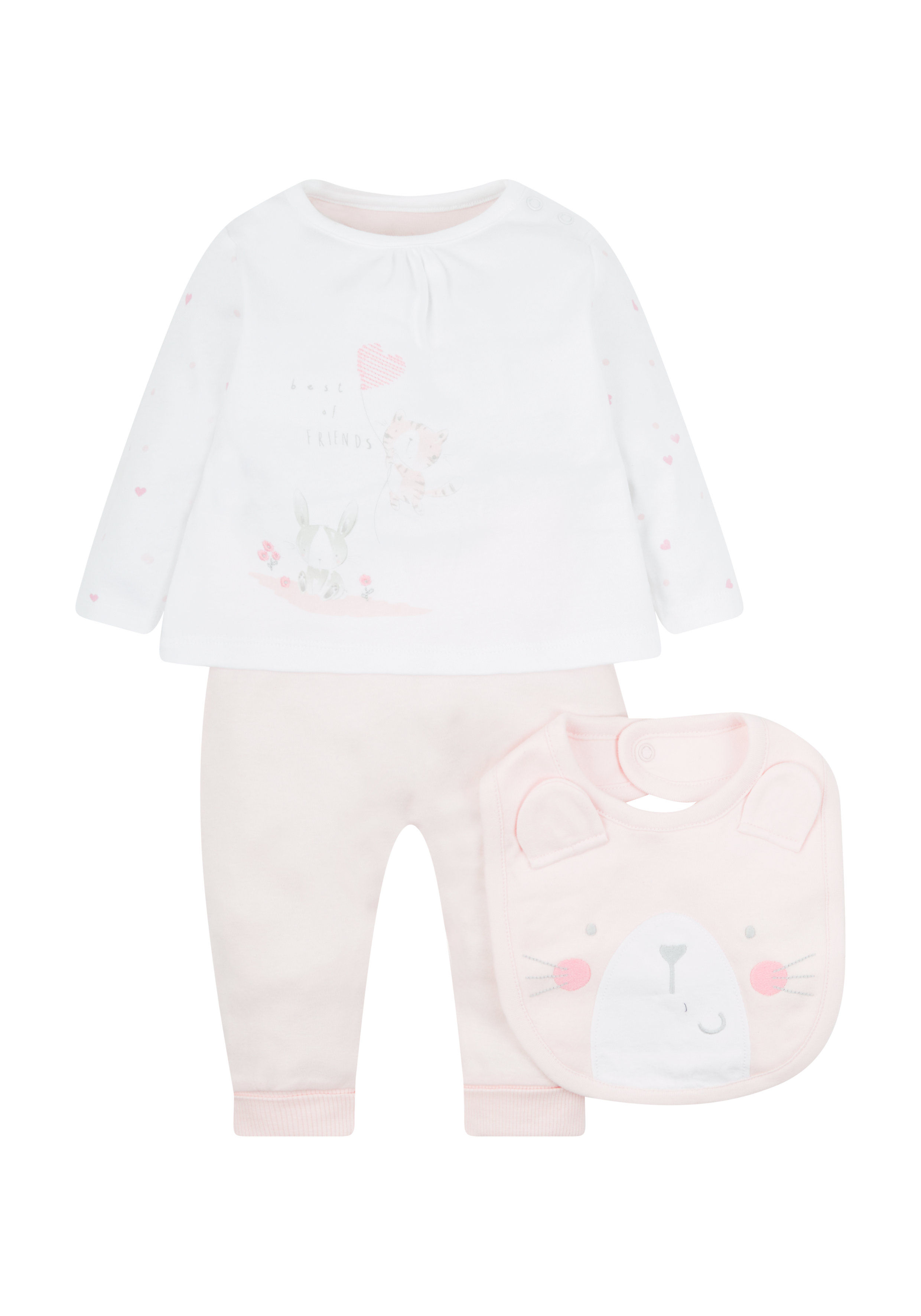 Mothercare | My First Pink Leggings Top And Bib Set