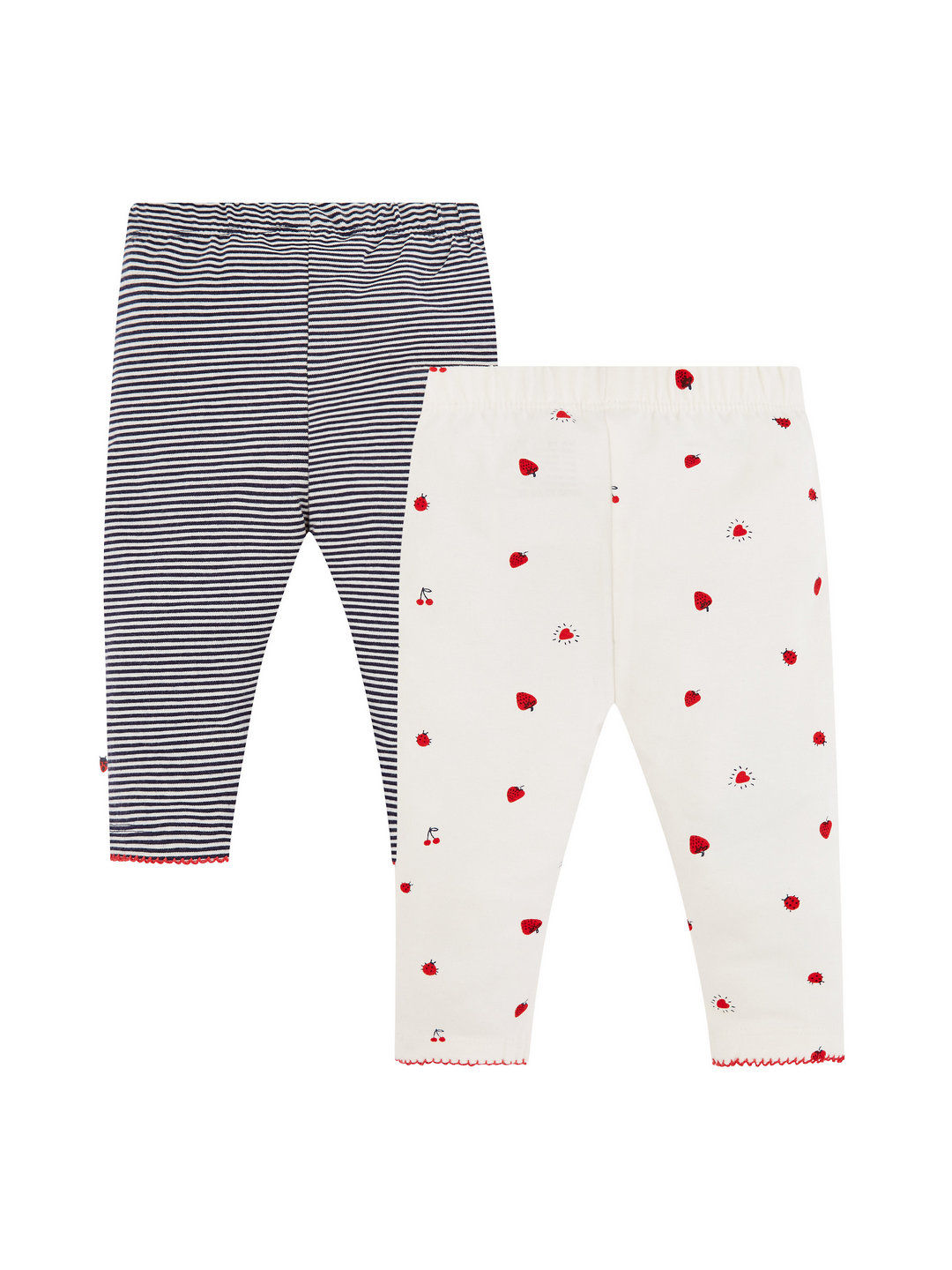 Mothercare   Black and Off White Printed Trousers - Pack of 2