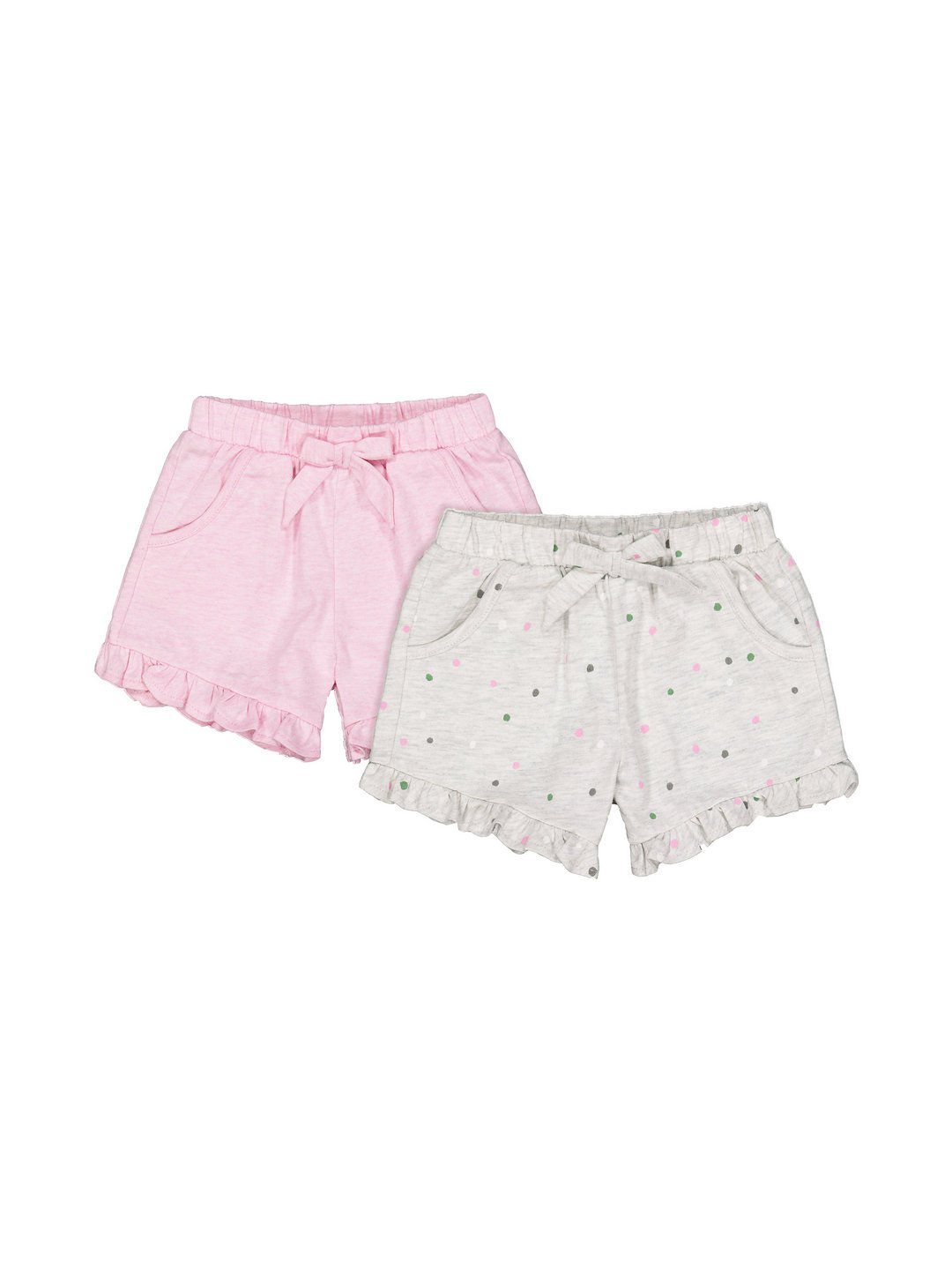 Mothercare | Grey and Pink Printed Shorts - Pack of 2