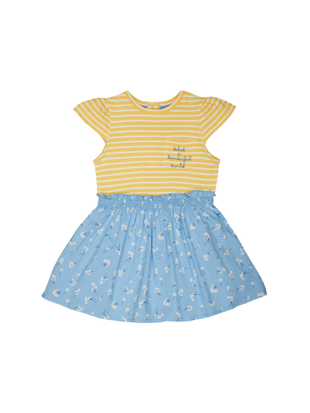 Mothercare | Yellow & Blue Striped Dress