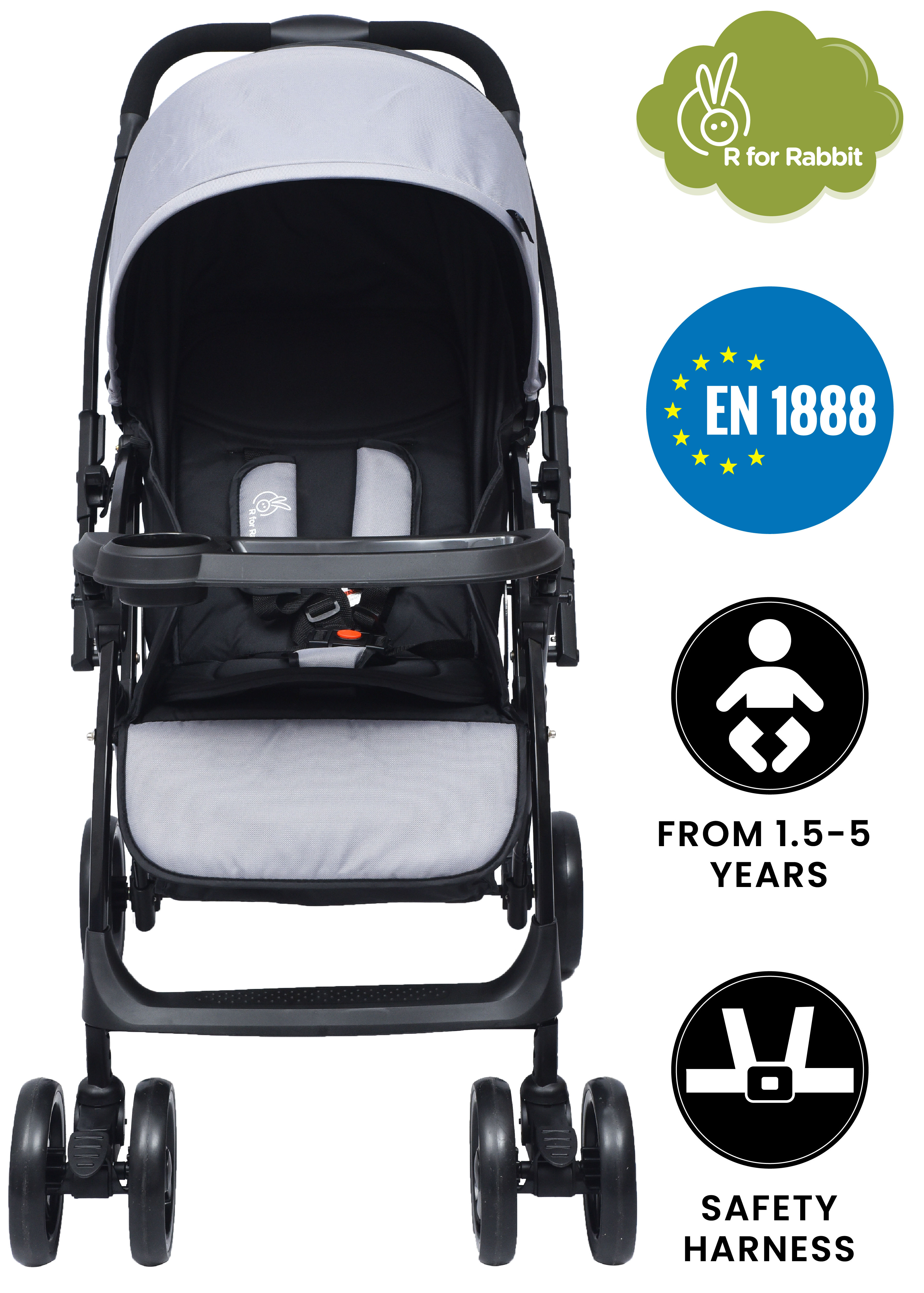 Mothercare | R for Rabbit Cuppy Cake Grand Stroller Green