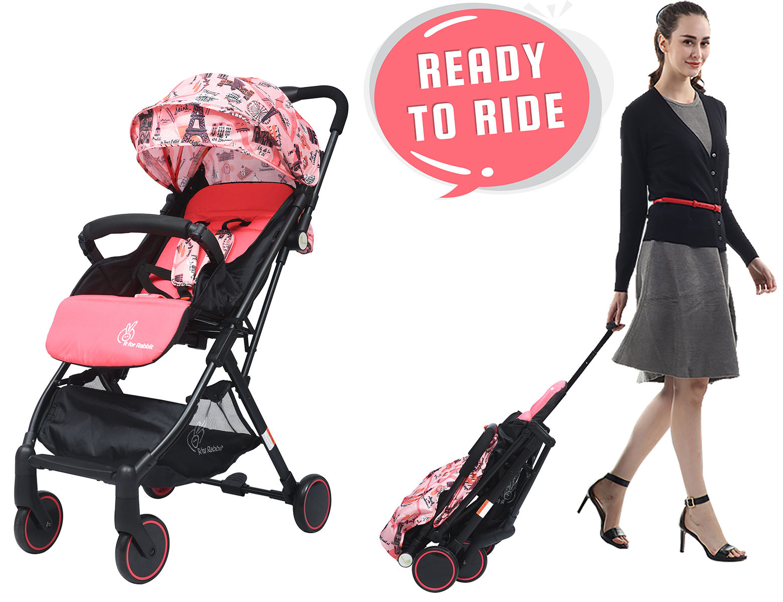 Mothercare   R For Rabbit Pocket Lite Baby Strollers Pink