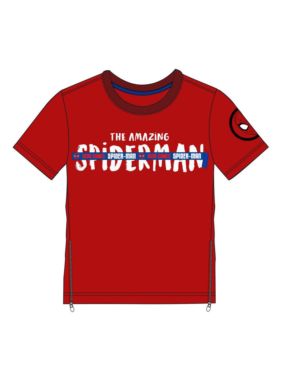 Mothercare | Kidsville Boys Half sleeves Round neck tee Spiderman-Red