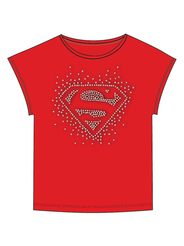 Mothercare | Kidsville Girls Half sleeves Round neck tee -Red