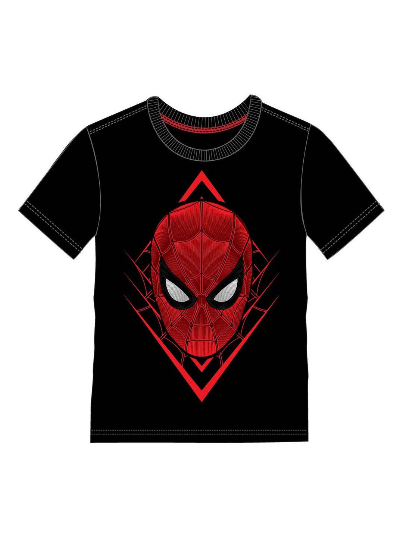 Mothercare | Kidsville Boys Half sleeves Round neck tee Spiderman-Black