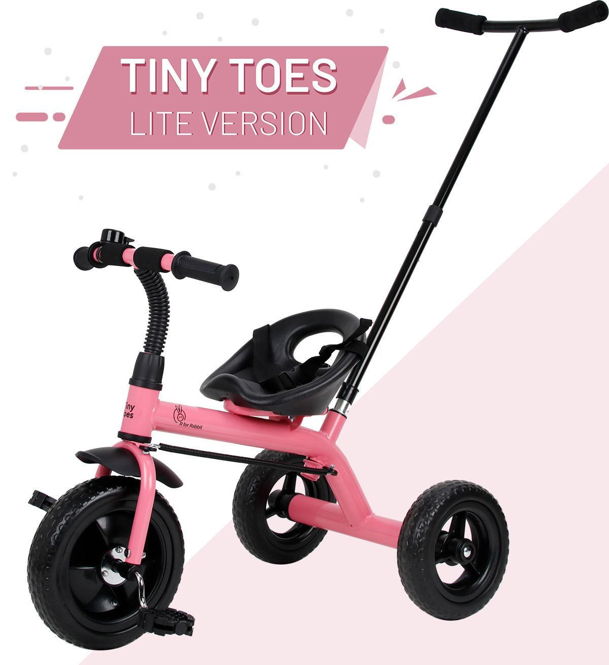 Mothercare | R For Rabbit Tiny Toes Lite Baby Tricycles Pink