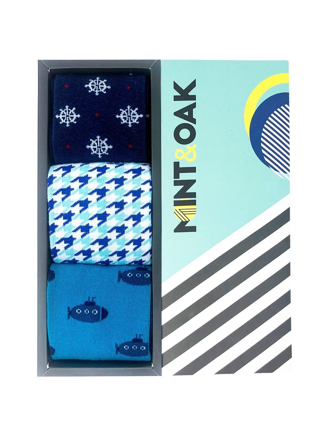 Mint & Oak | Mint & Oak Easy Breezy Calf Length Socks for Men - Pack of 3