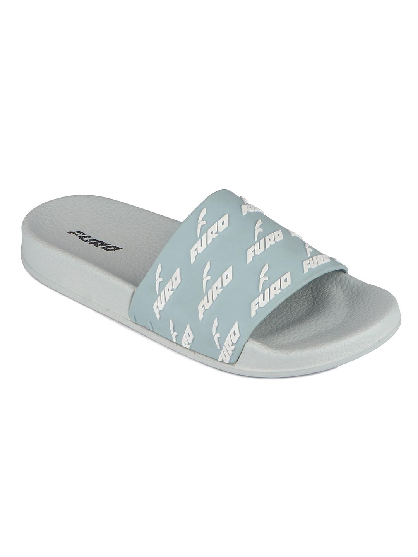 Furo   Furo Grey/White Flip-Flop For Women FWS008 F0020