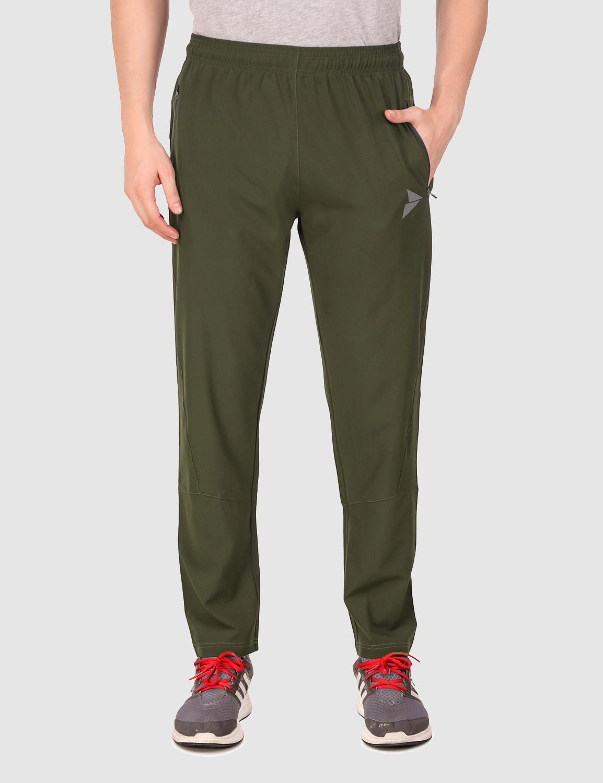 Fitinc   Fitinc NS Lycra Regular Fit Olive Track pant for Men