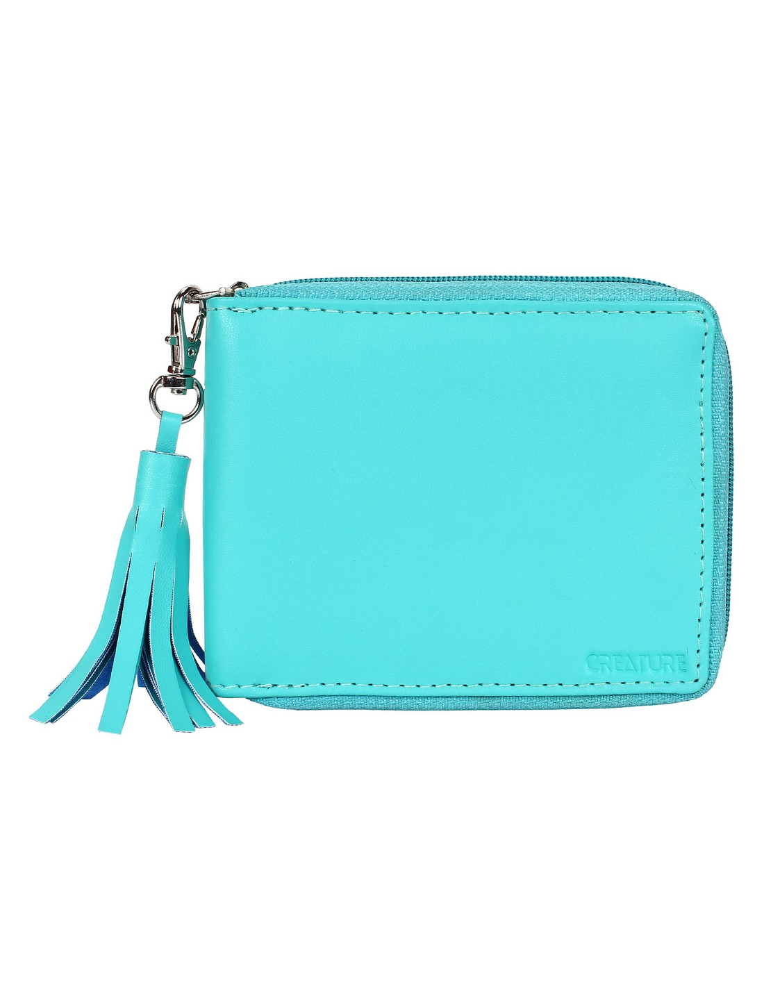 CREATURE   Creature Turquoise PU Leather Zipper Wallet for Women