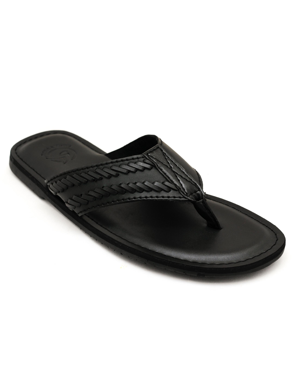 Trends & Trades | Mens Black Thong Sandals