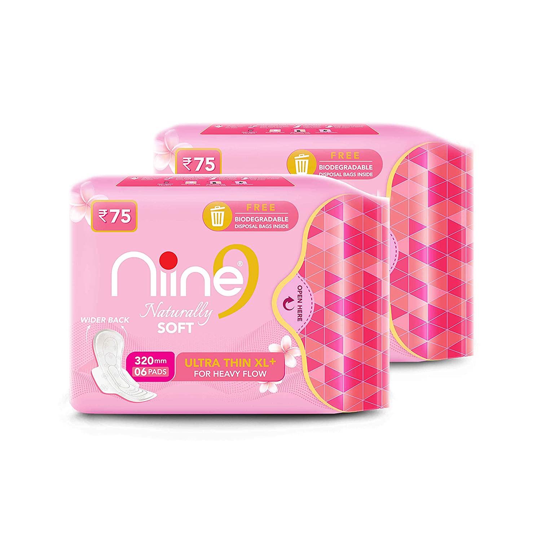 NIINE   Niine Naturally Soft Ultra Thin XL+ Sanitary Napkins