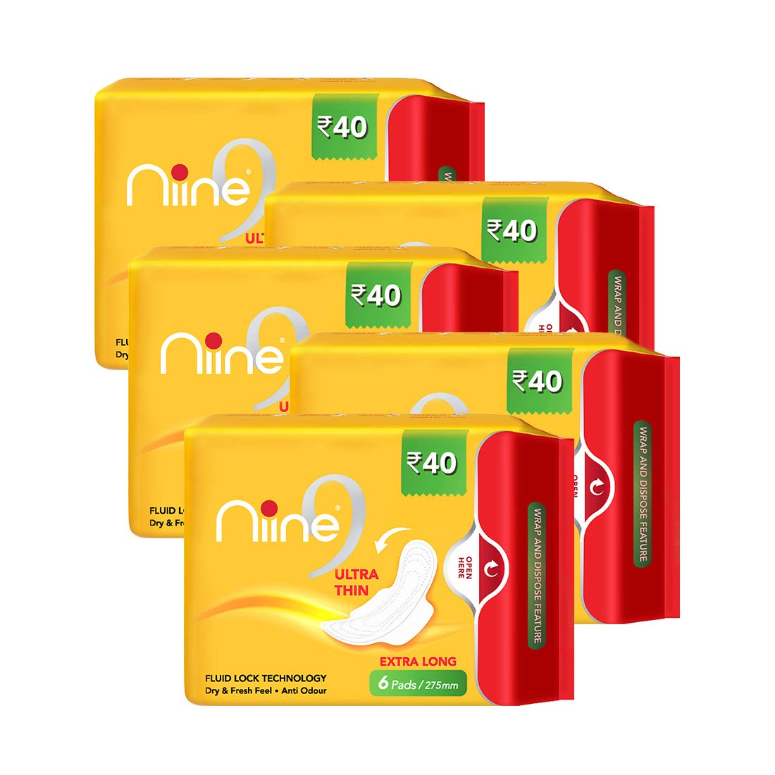 NIINE   Niine Ultra Thin Sanitary Pads for Women (Pack of 5)
