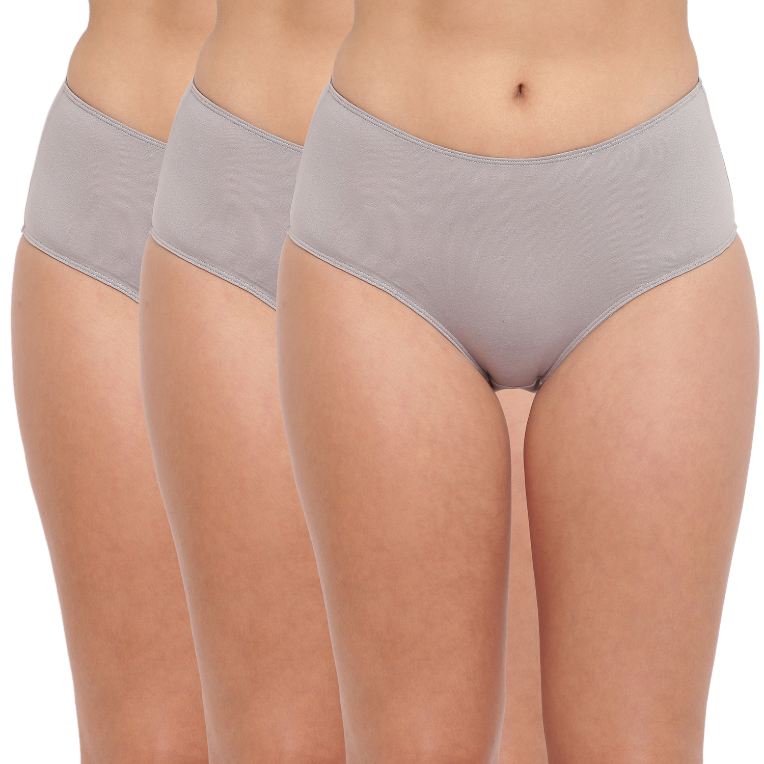 BASIICS by La Intimo | Tease 2 Please Hipster/ Full Brief Grey (Pack of 3)