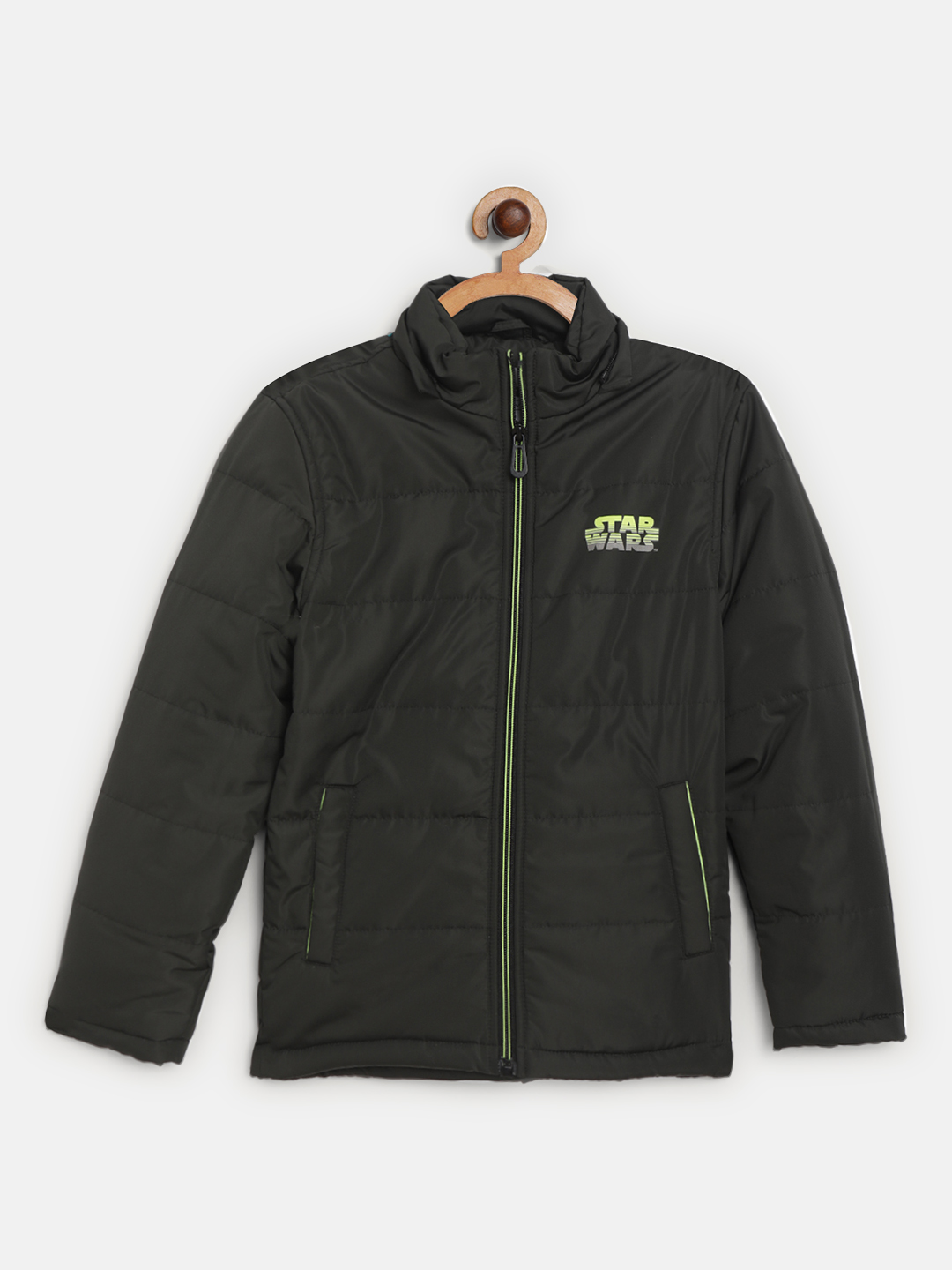 OCTAVE | Boys OLIVE Front Open Jackets