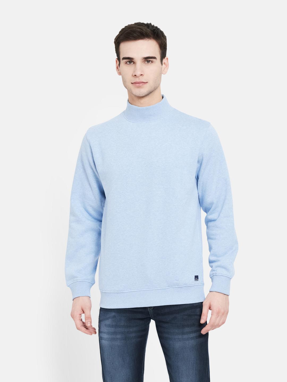 OCTAVE | Men SKY MELANGE Sweatshirts