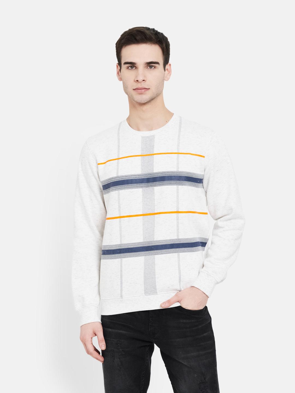 OCTAVE | Men WHITE MELANGE Sweatshirts