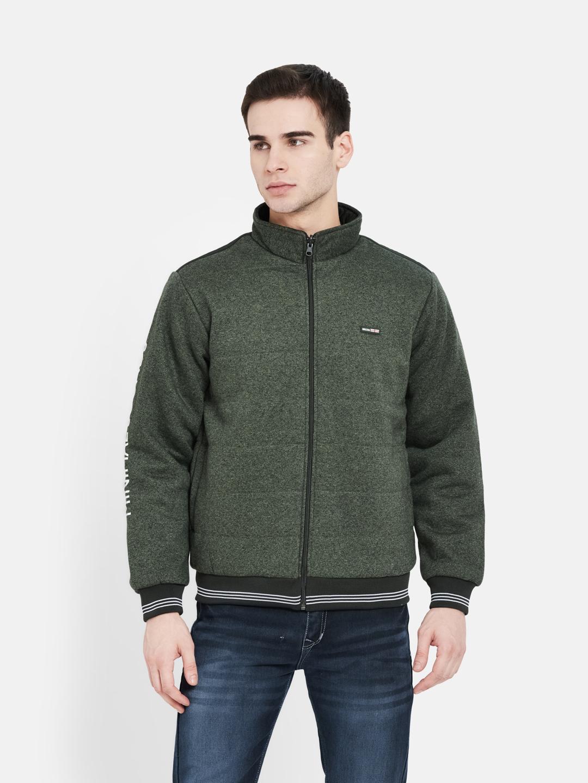 OCTAVE | Men OLIVE MELANGE Sweatshirts