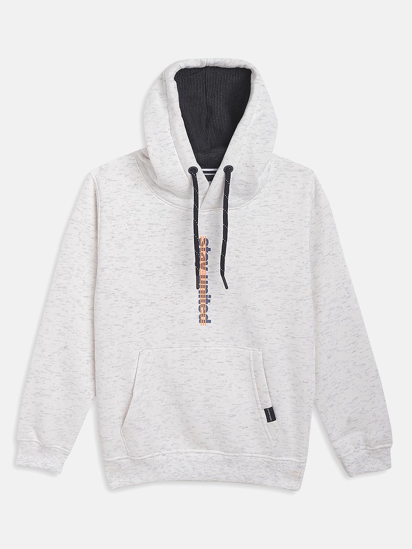 OCTAVE | Boys WHITE MELANGE Sweatshirts
