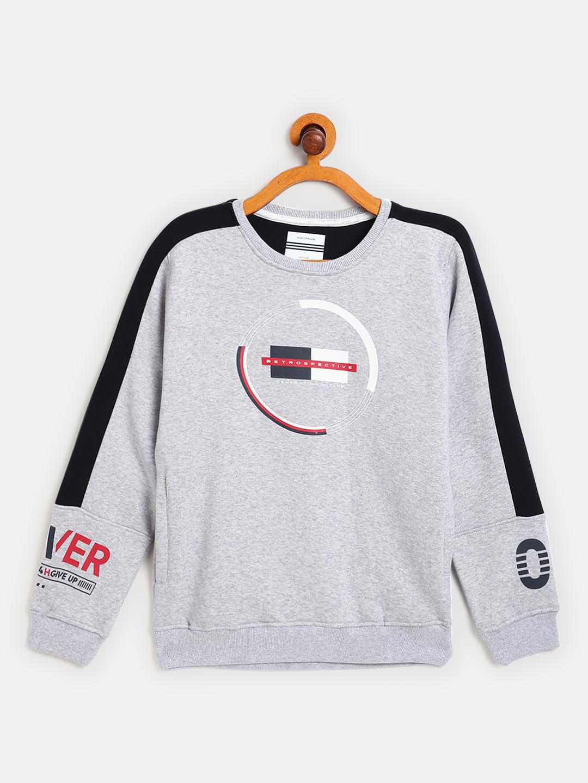 OCTAVE   Boys GREY MELANGE Sweatshirts