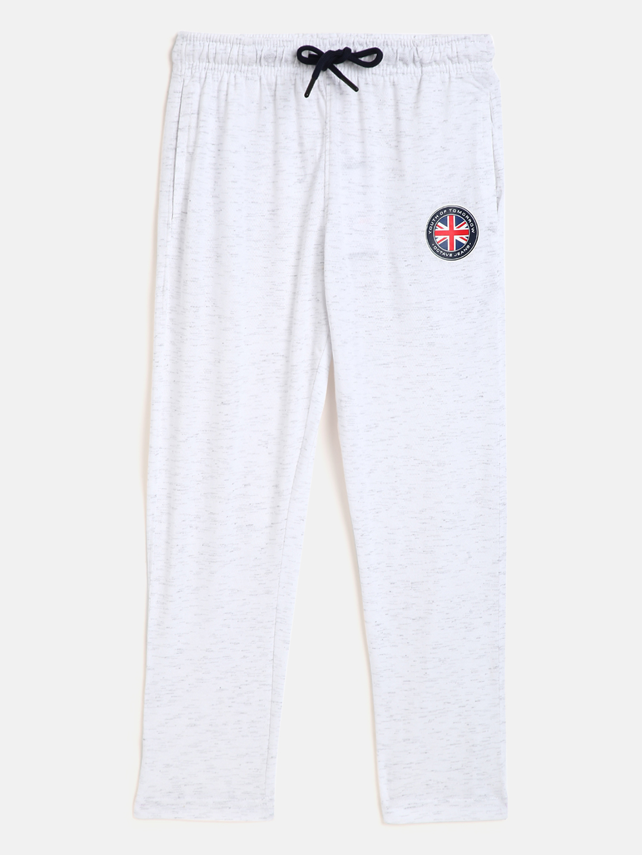 OCTAVE   Boys WHITE MELANGE Trackpants