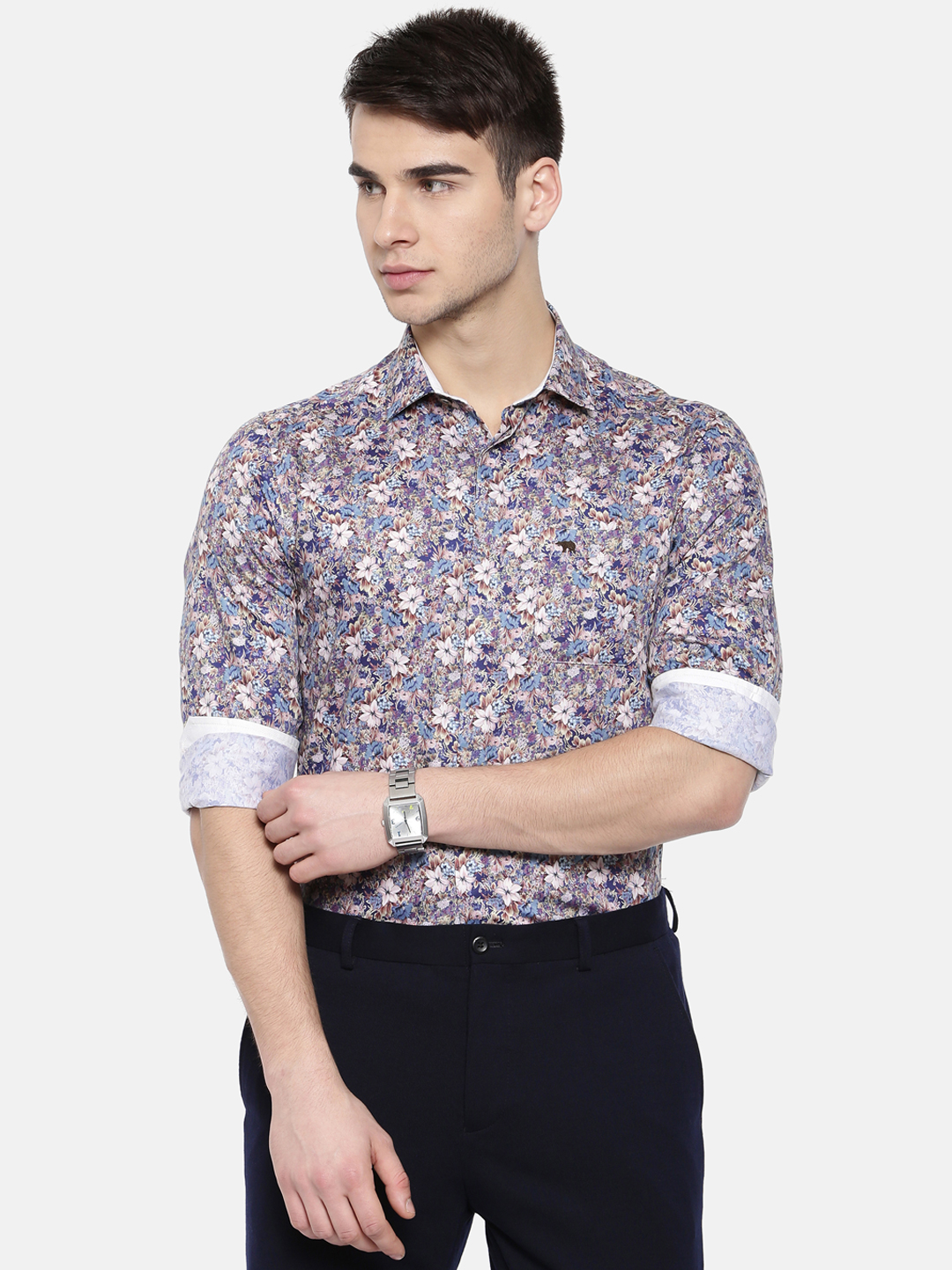The Bear House | TBH CLASSIC FLORAL FORMAL SHIRT WITH SIDE PANELS.