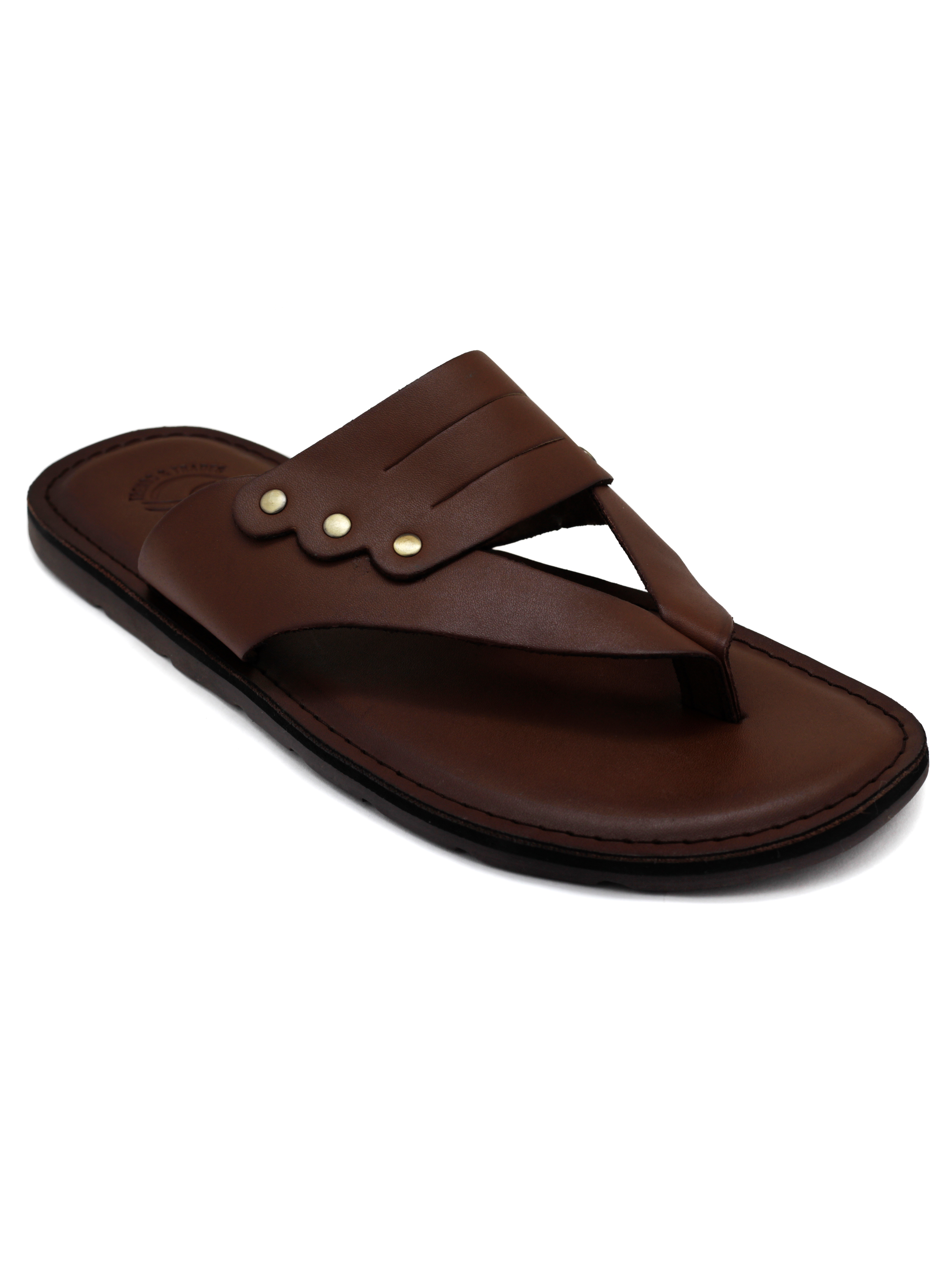 Trends & Trades | Mens Brown V Strap casual Sandals