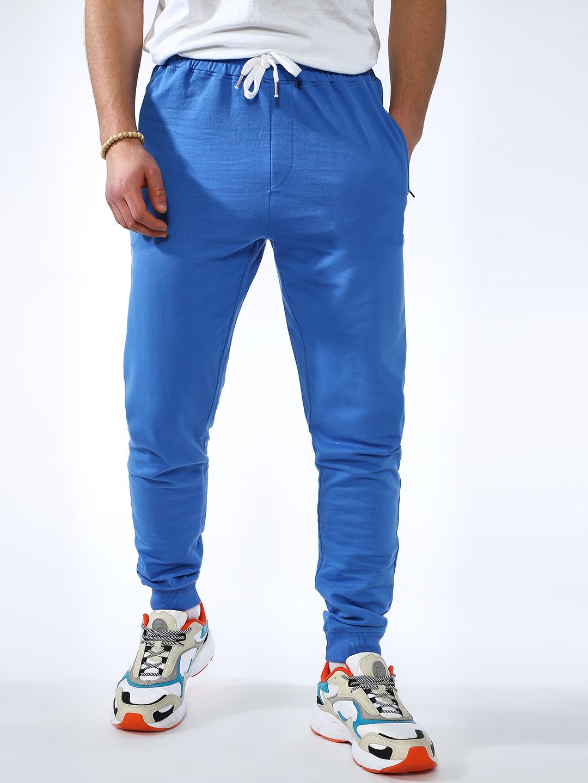 Blue Saint | Blue Saint Men's Blue Slim Fit Joggers