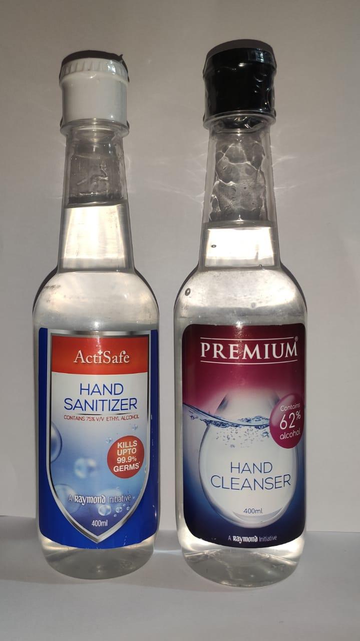 A Raymond Initiative   Raymond ActiSafe Hand Sanitizer & Premium Hand Cleanser - 400MLX2