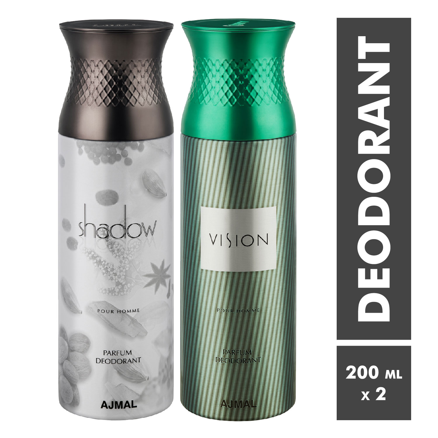 Ajmal | Shadow Homme and Vision Deodorant Spray - Pack of 2