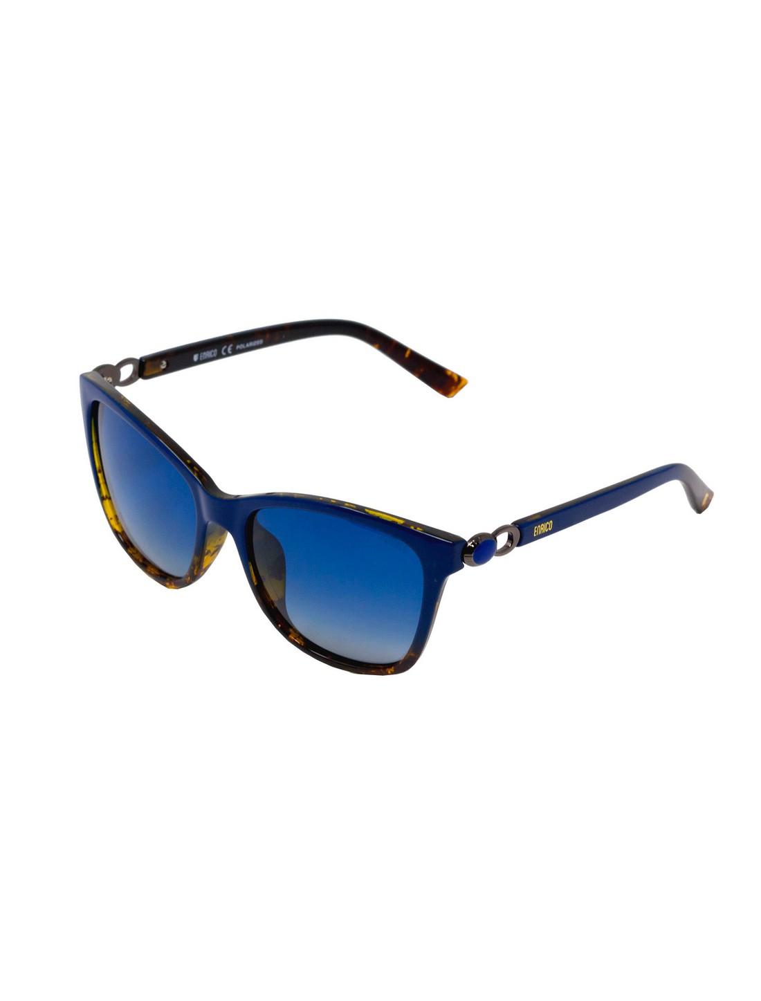 ENRICO   ENRICO Luna Polycarbonate UV Protected Cateye Sunglasses for Women ( Lens - Blue   Frame - Blue)