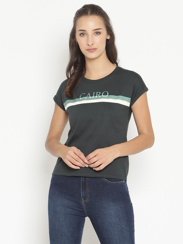 METTLE | Women MOUNTAIN GREEN T-Shirts