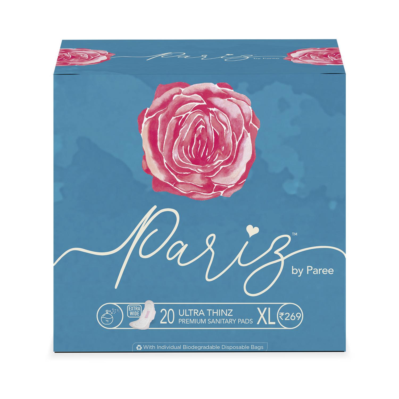 Paree | Pariz by Paree Premium Ultra Thinz Combo of Cottony Soft Sanitary Pads XL - 20 Pads