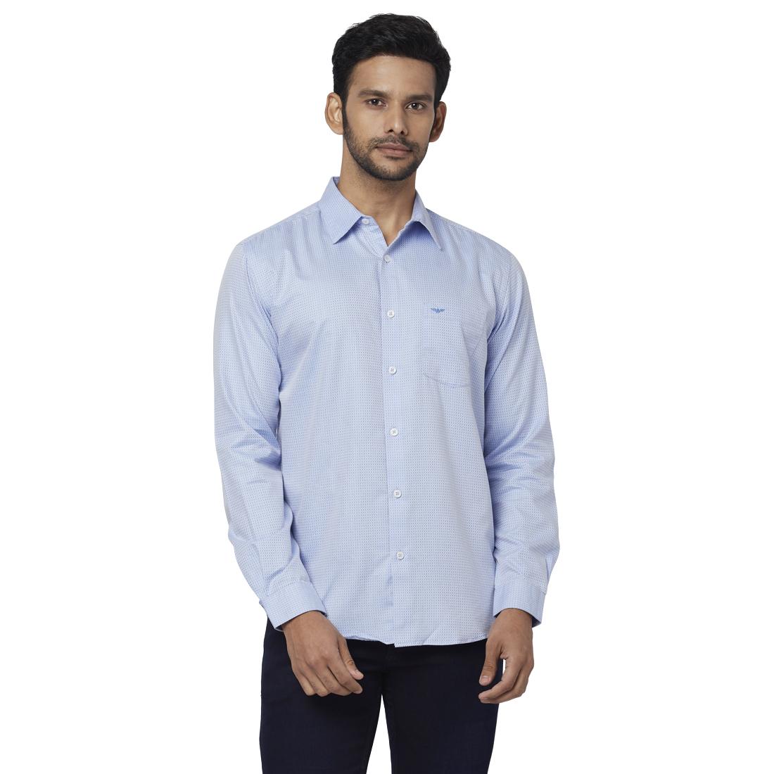 Park Avenue   Park Avenue Blue Casual Shirt