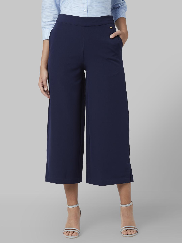 Park Avenue   Park Avenue Woman Dark Blue Trouser