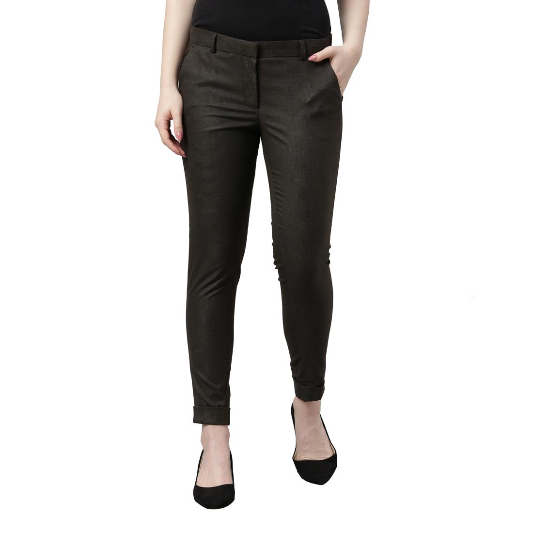 Park Avenue   Park Avenue Woman Brown Trouser