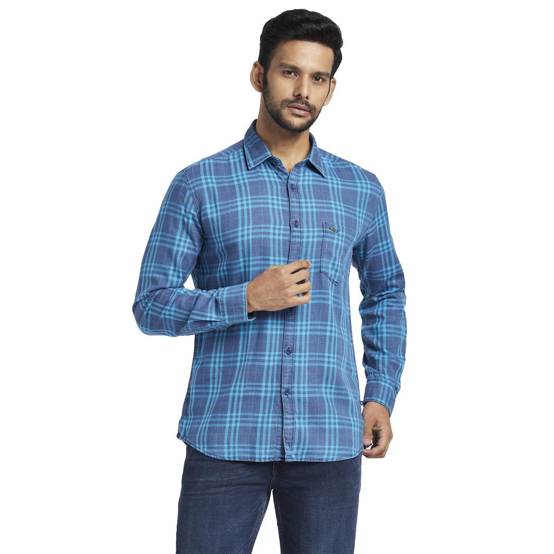 PARX | PARX Blue Casual Shirt