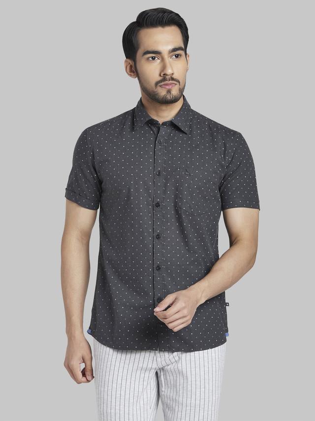 PARX | PARX Grey Casual Shirt