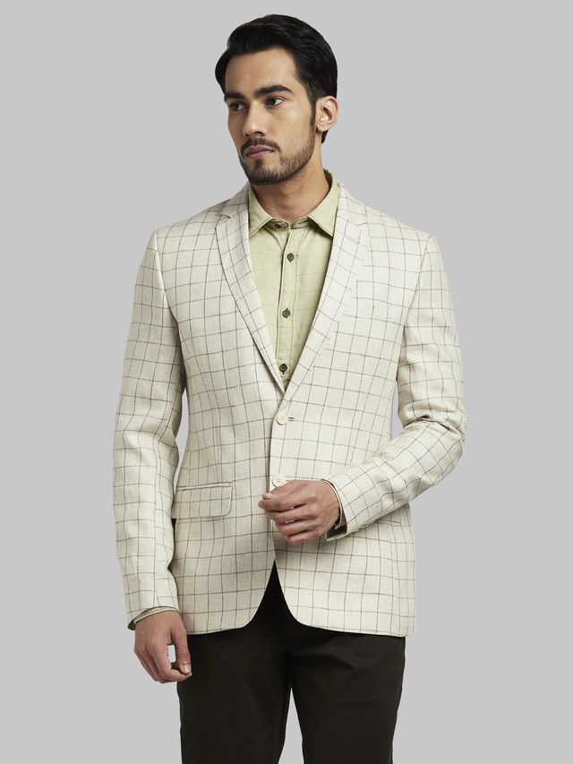 PARX   Parx Medium Khaki Urban Fit Blazer