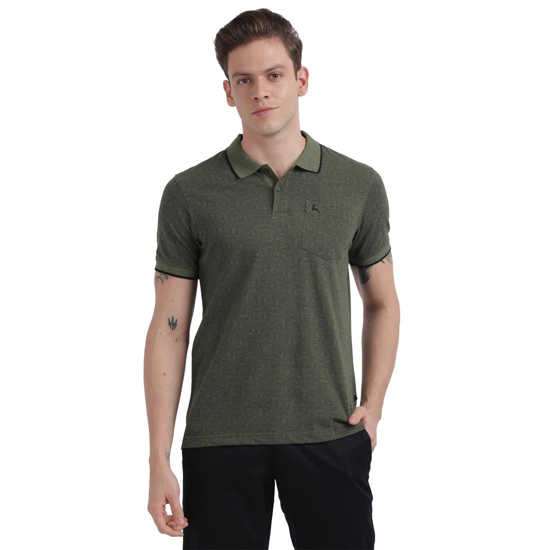 PARX | XMKS04672N8 Dark Green T-Shirt