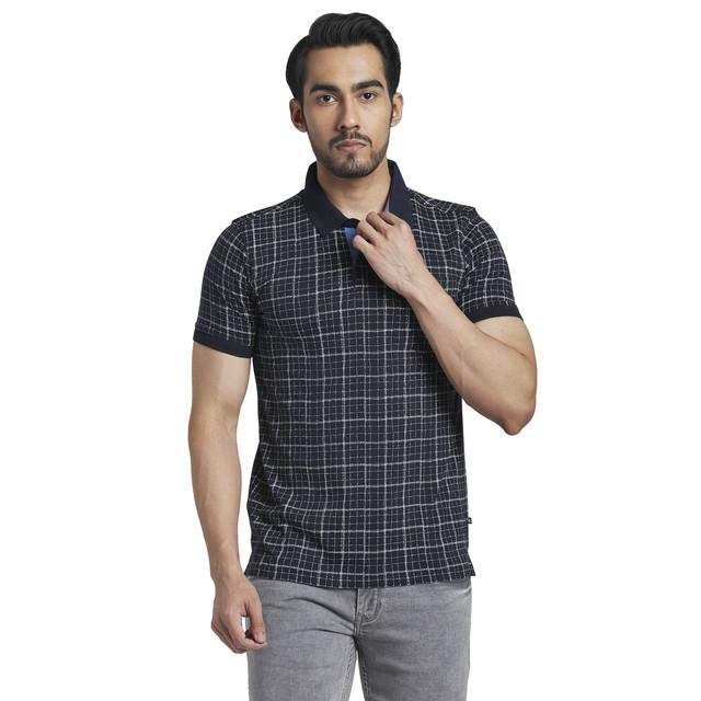 PARX | Parx Dark Blue Regular Fit T-Shirt