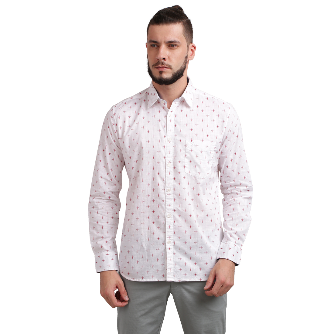 PARX | XMSS07991W2 White Casual Shirt