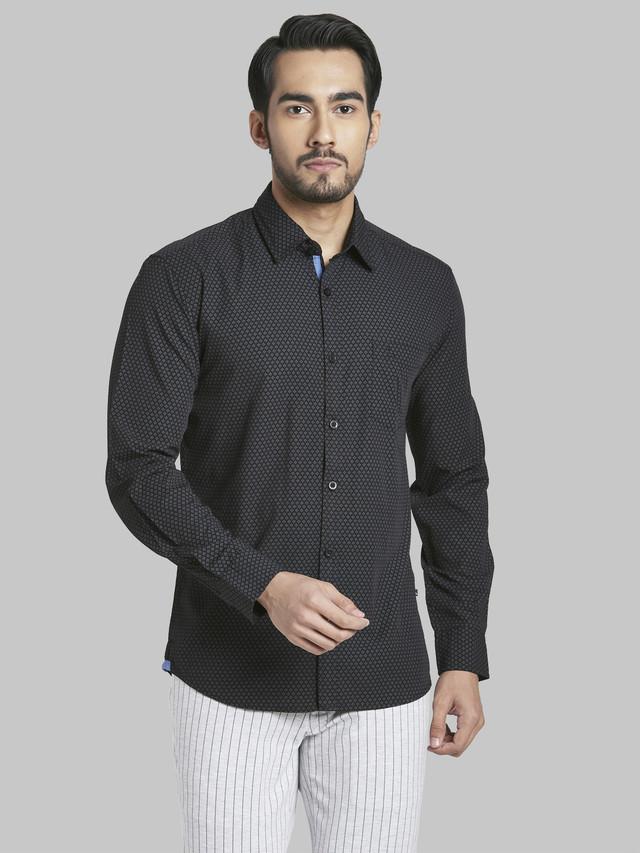 PARX | Parx Black Slim Fit Shirt