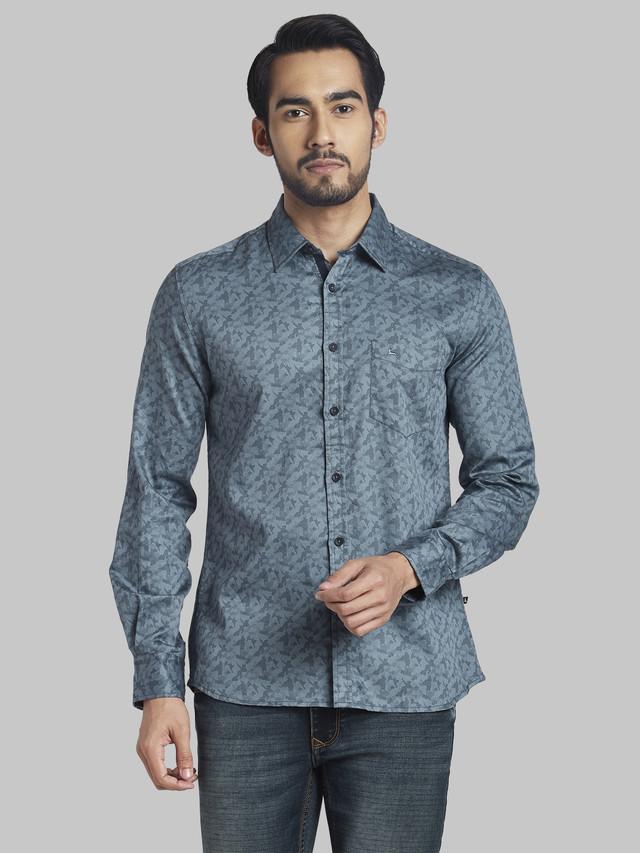 PARX | Parx Medium Grey Slim Fit Shirt