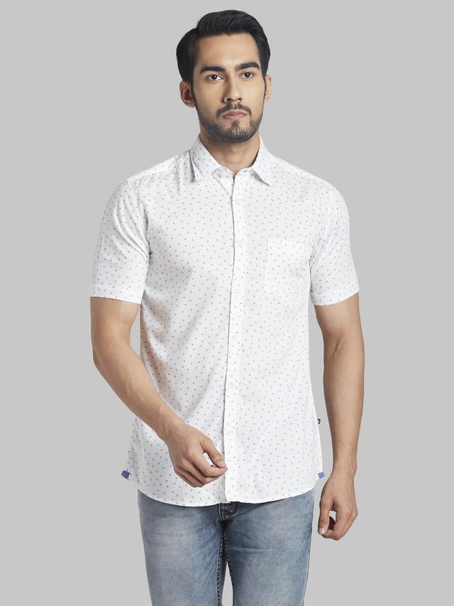 PARX | Parx Medium Blue Slim Fit Shirt