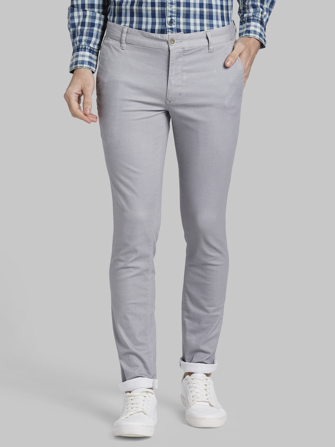 PARX   XMTS02817G4 Grey Formal Trousers