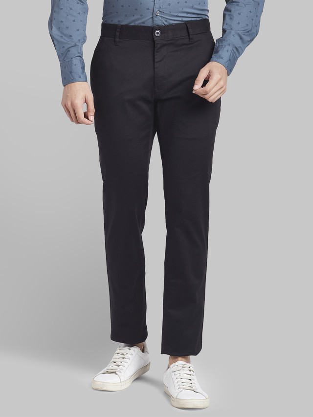 PARX   Parx Dark Blue Low Rise Tapered Fit Trouser