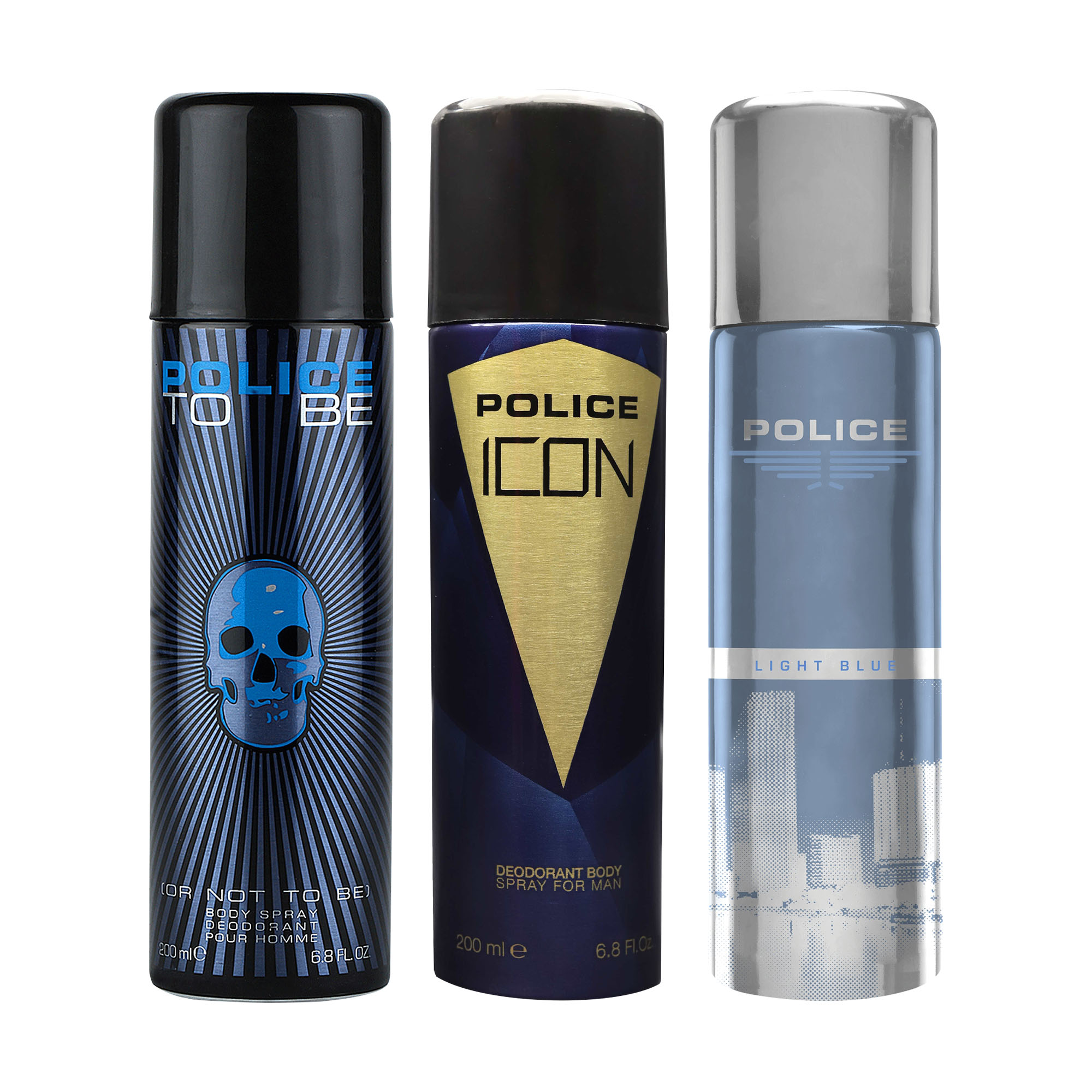 POLICE | To Be Men and Icon and Light Blue Deodorant Spray - For Men 600 ML