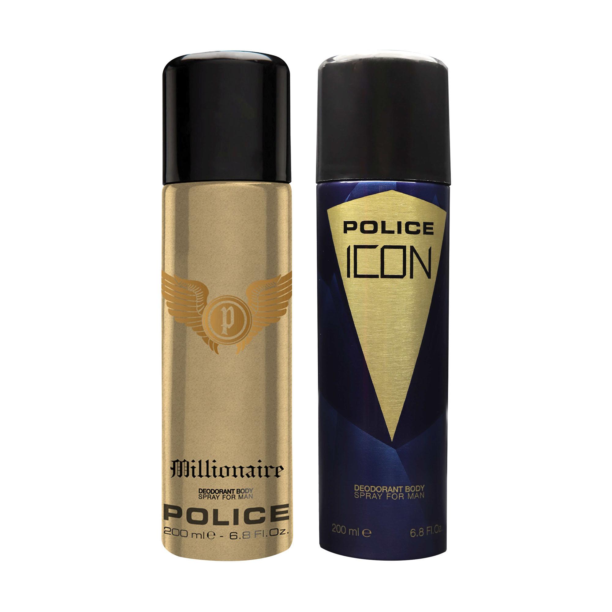 POLICE | Millionaire and Icon Deodorant Spray - For Men 400 ML