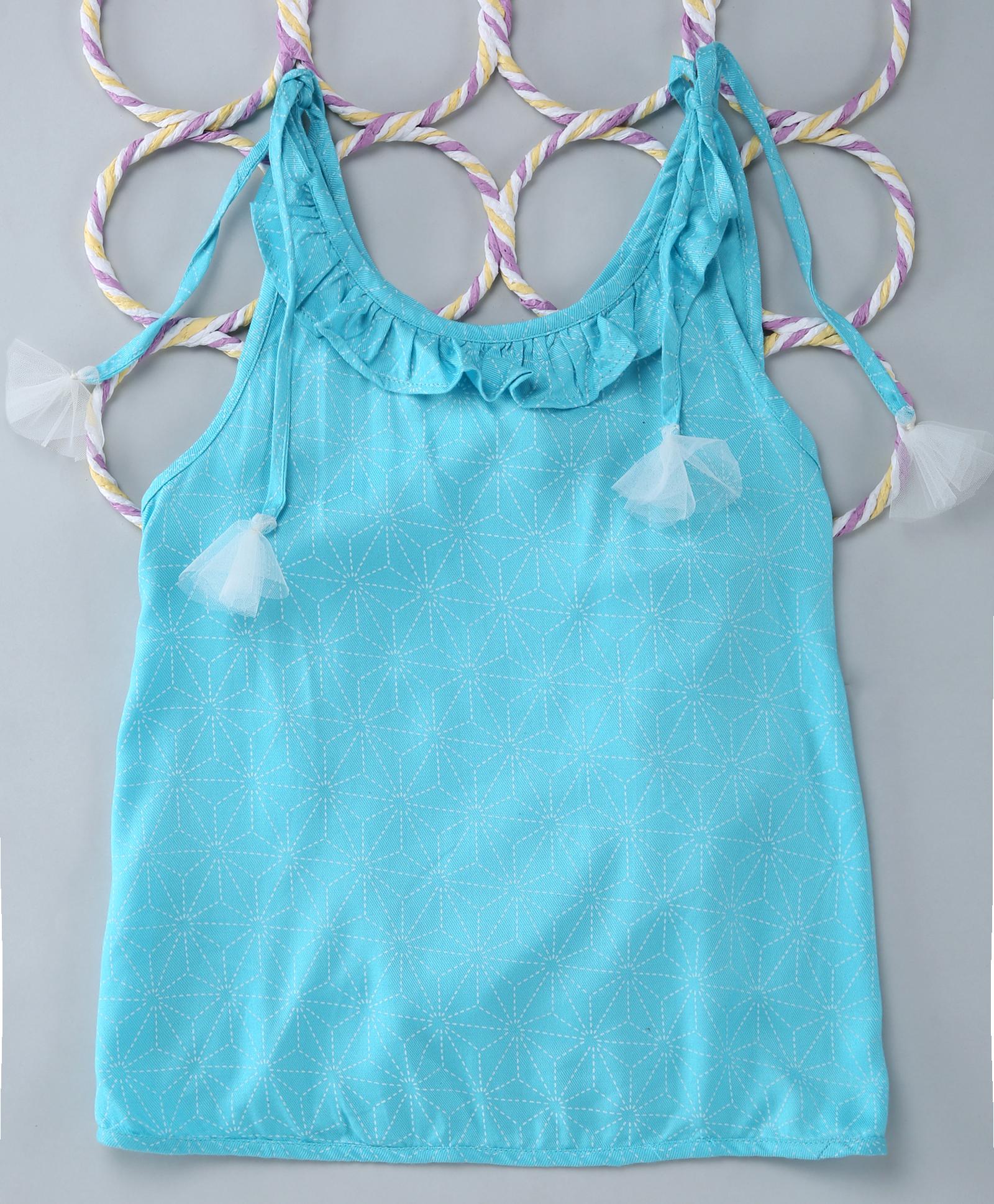 Popsicles Clothing | Popsicles Arctic Snow Skirt Set White  Blue Regular Fit Dress For Girls
